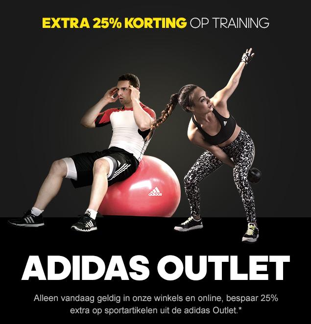 25% EXTRA korting op trainingskleding, schoenen & accessoires @ Adidas