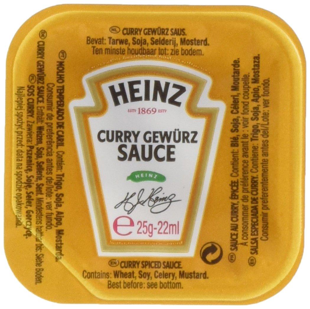 Doos met 100 stuks Heinz Curry Gewürz Dippots 25 gr voor €2 @ Die Grenze