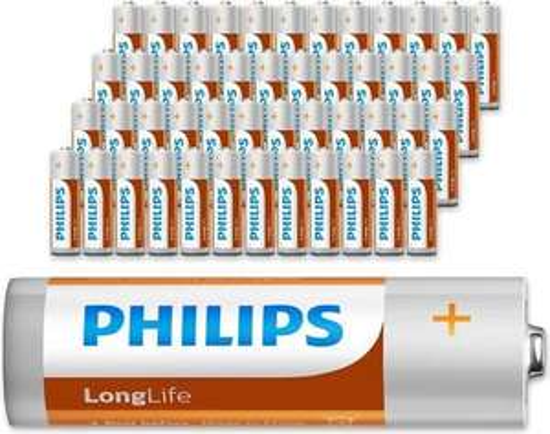 Philips Longlife batterijen - 48 stuks-AAq