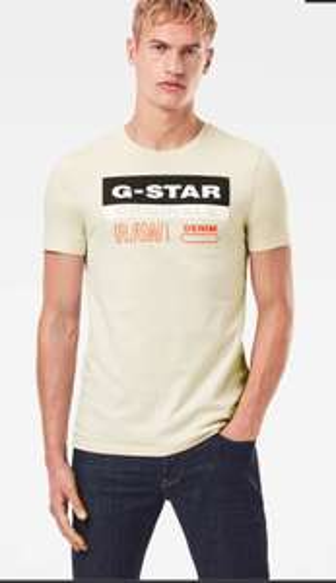 G-Star Raw Originals Label Logo Slim heren t-shirt