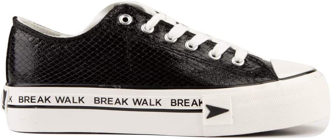 D Franklin dames sneakers - zwart met platform