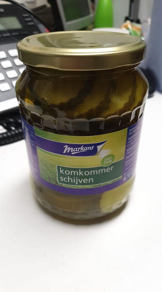 Grote pot Markant Zoetzure Komkommerschijven €0,30 @ Coöp
