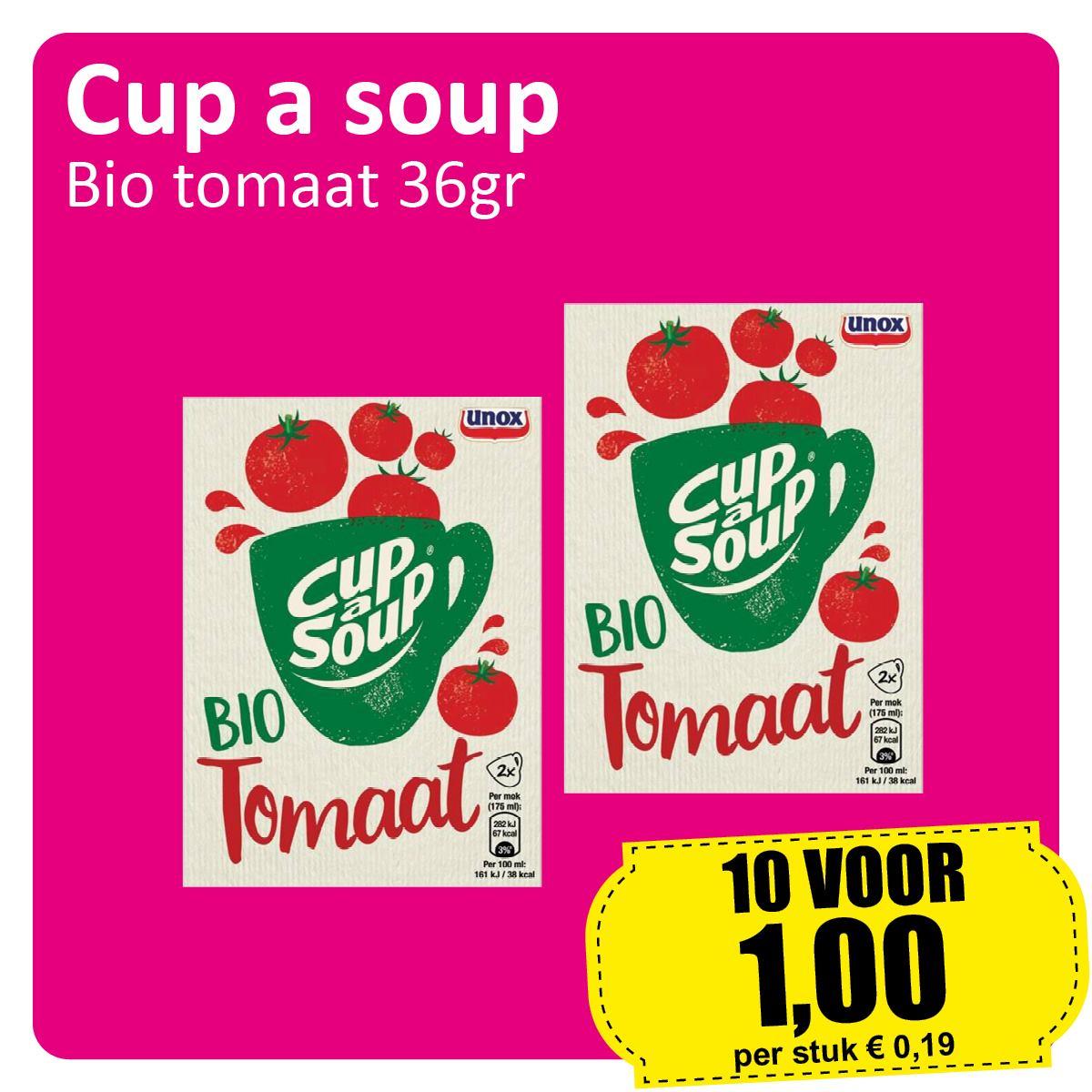 10 doosjes Cup a Soup Tomaat voor €1 @ Datumvoordeelshop