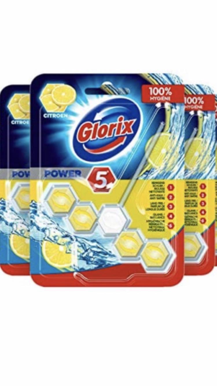 Glorix power 5 toiletblok citroen 9 stuks