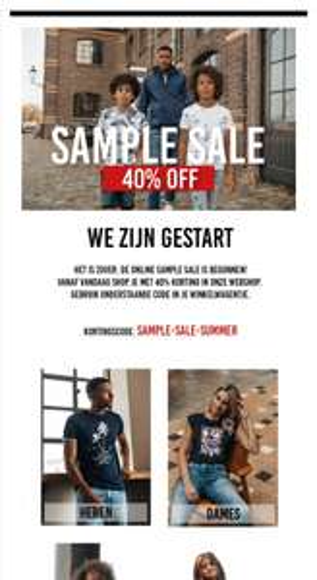 Online sample sale cars jeans 40% korting