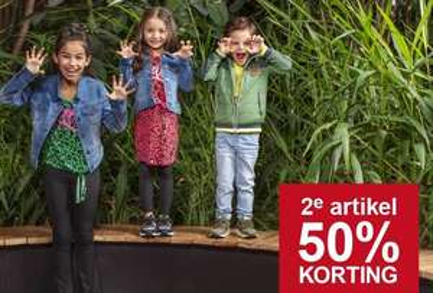 Kids artikelen: 2e artikel 50% korting @ Scapino