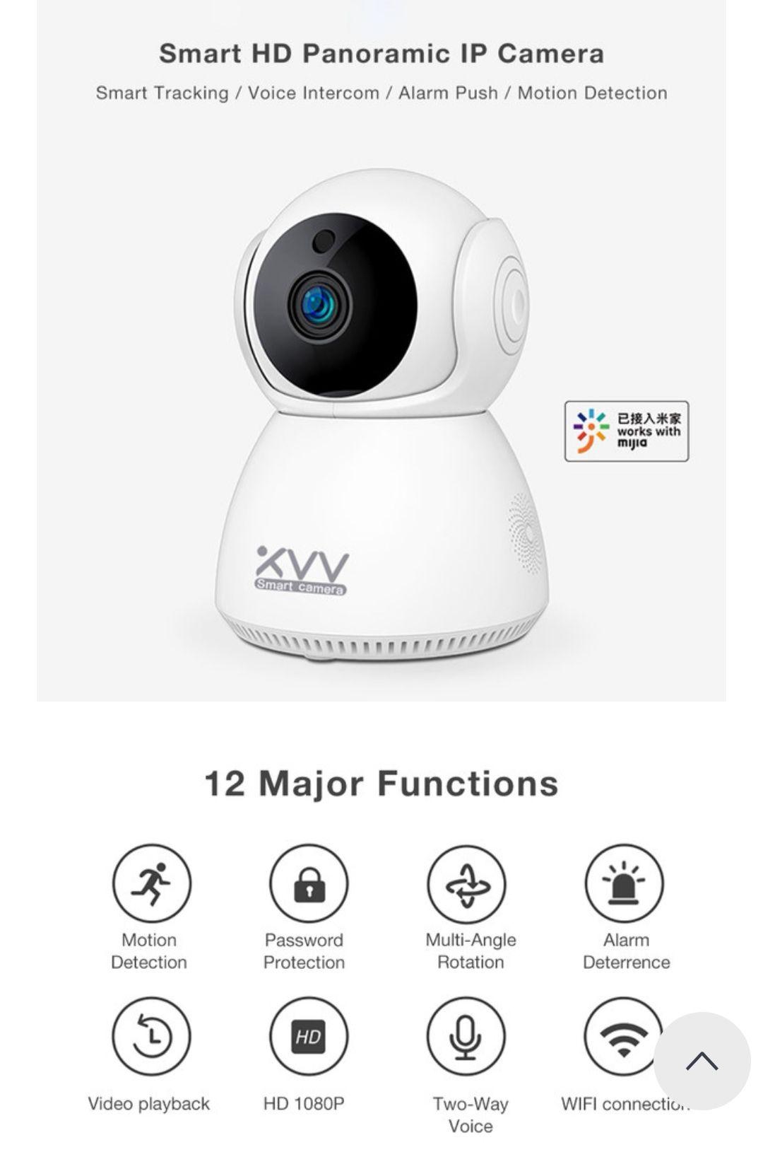 Xiaovv Q8 Camera 2 wegs audio Infrarood 1080P Camera Babyfoon