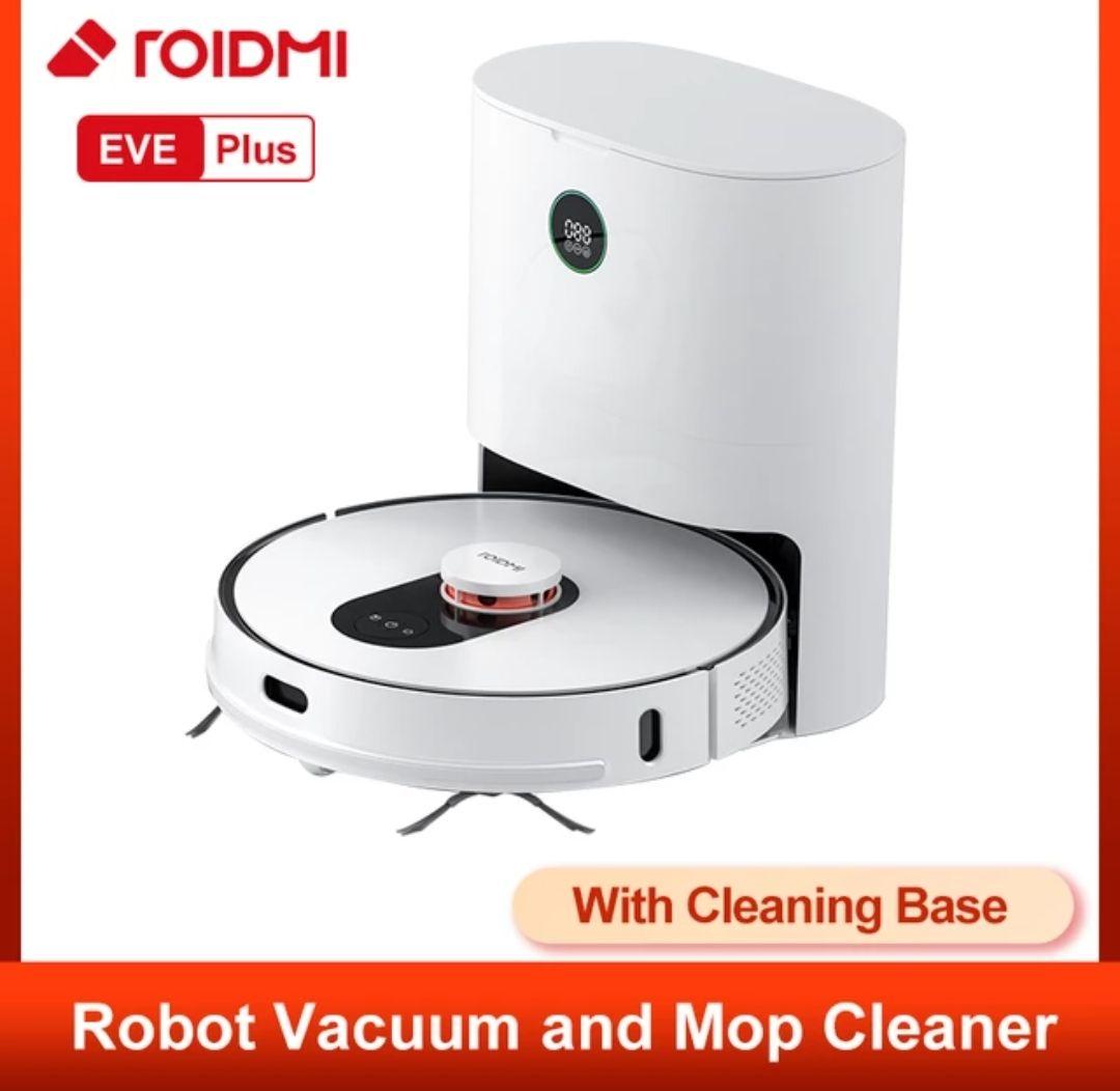 Roidmi eve plus robotstofzuiger en dweil laser Google assistent/alexa/APP