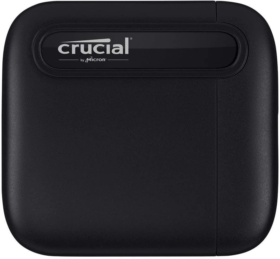 Crucial CT1000X6SSD9 1TB X6 Draagbare SS, tot 540 MB/s, USB 3.2, USB-C, Zwart