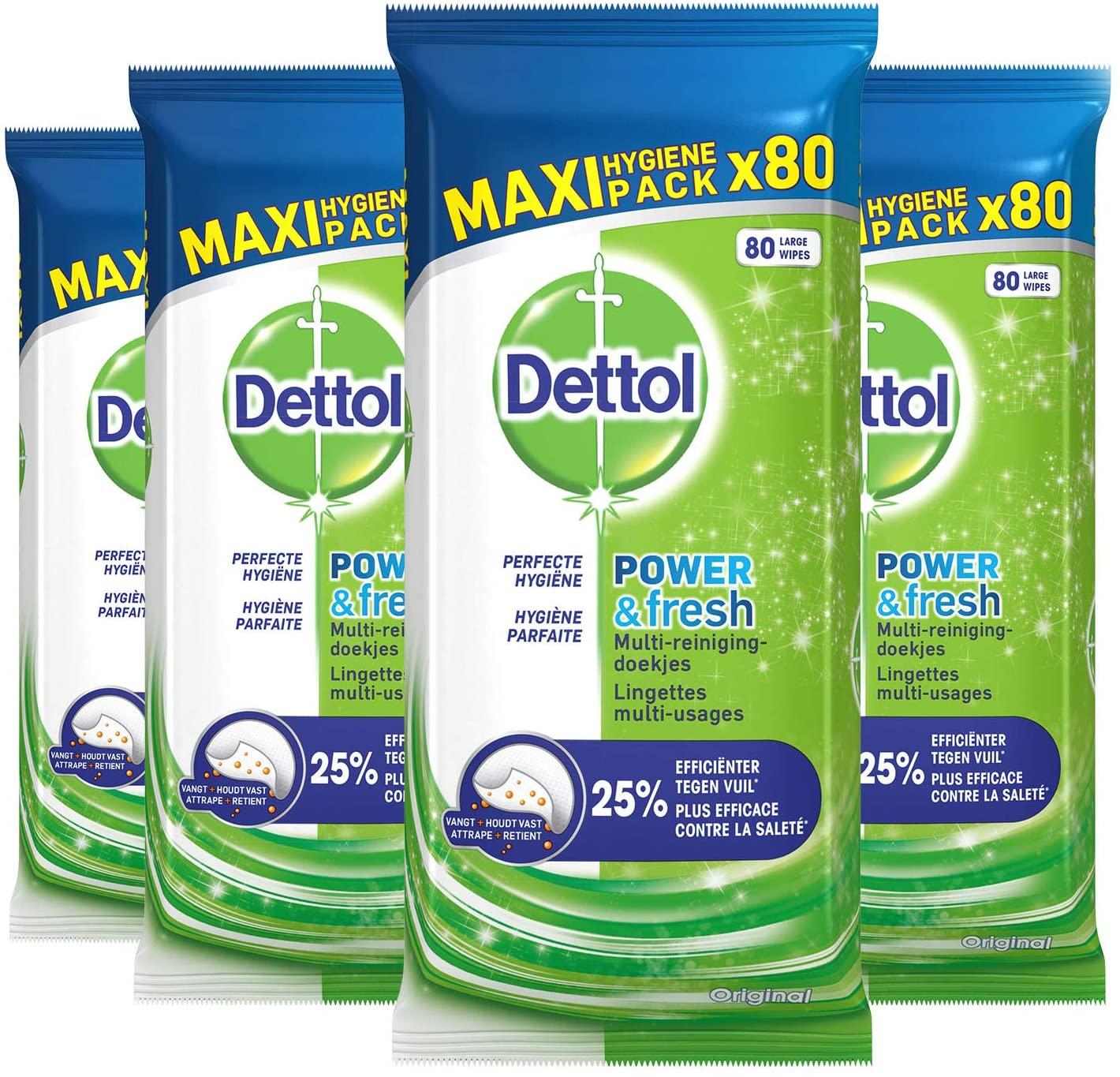 Dettol Lente Deals (max 60% korting) bijv. Schoonmaakdoekjes 4x80 stuks €7,49