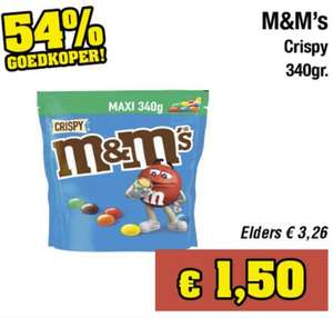 M&M'S Crispy chocolade 340g @Budget Food