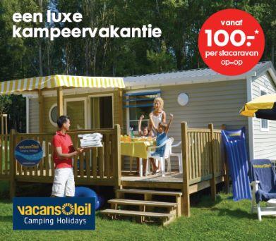 Weekendje/midweek €100 / week €200 bij Vacansoleil @ Hema
