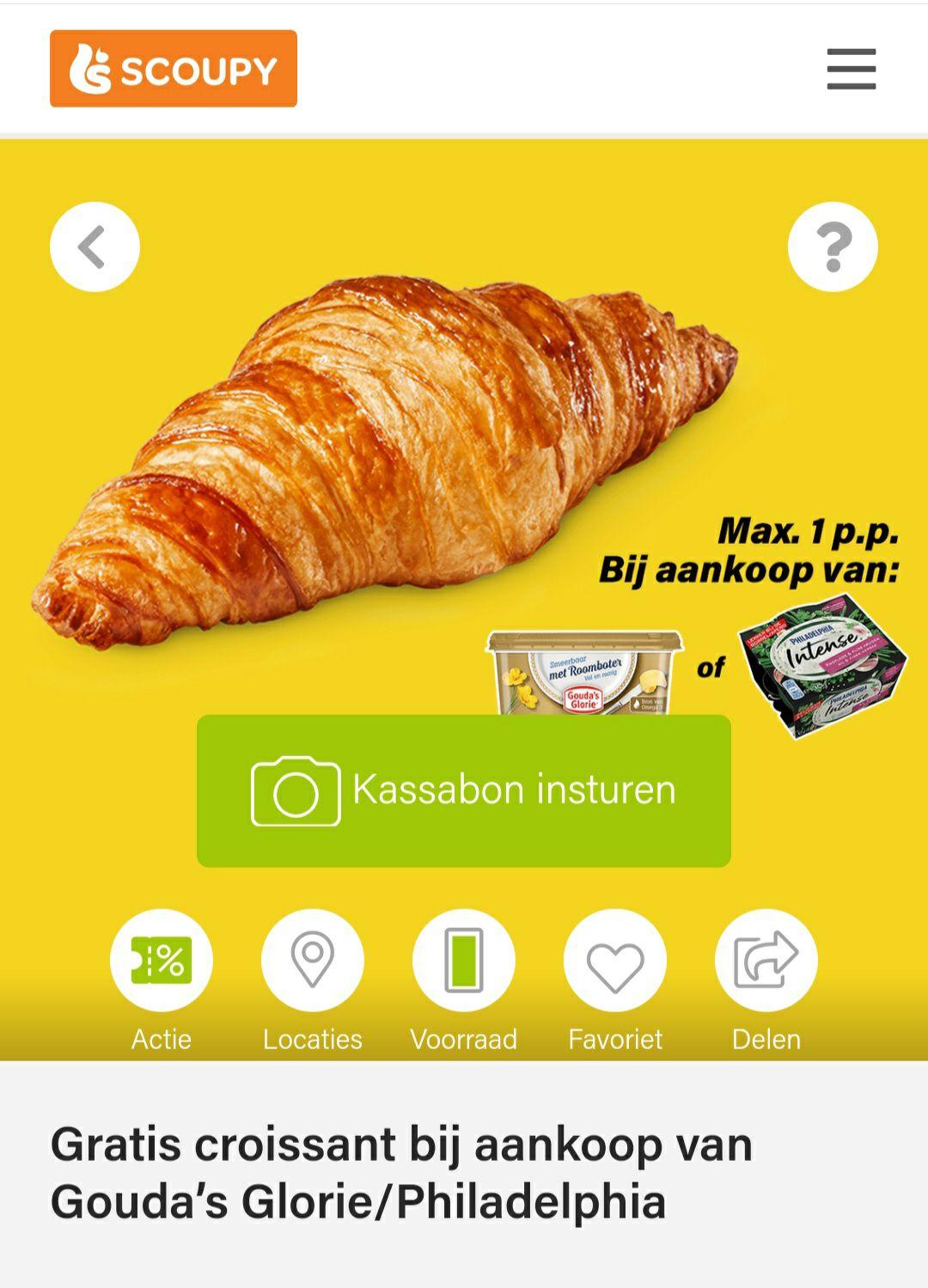 Gratis croissant bij aankoop van Gouda's Glorie/Philadelphia