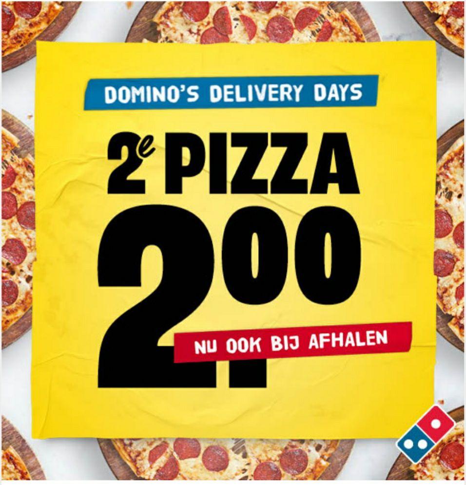 Domino's 2de pizza voor 2 euro