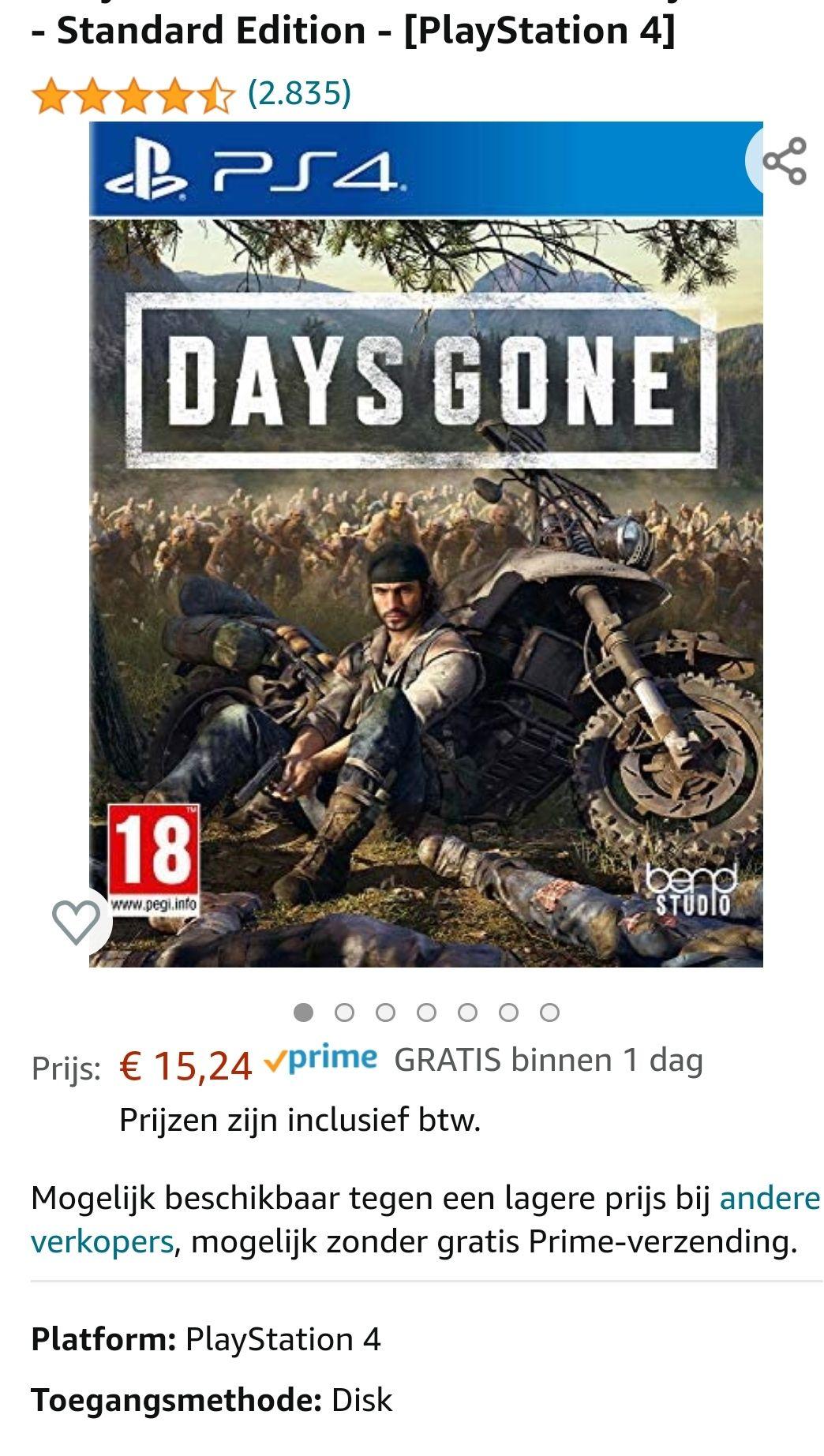 Days Gone PlayStation 4 @Amazon.nl