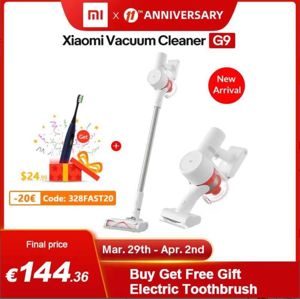 Xiaomi Handheld Vacuum Cleaner G9 + GRATIS tandenborstel