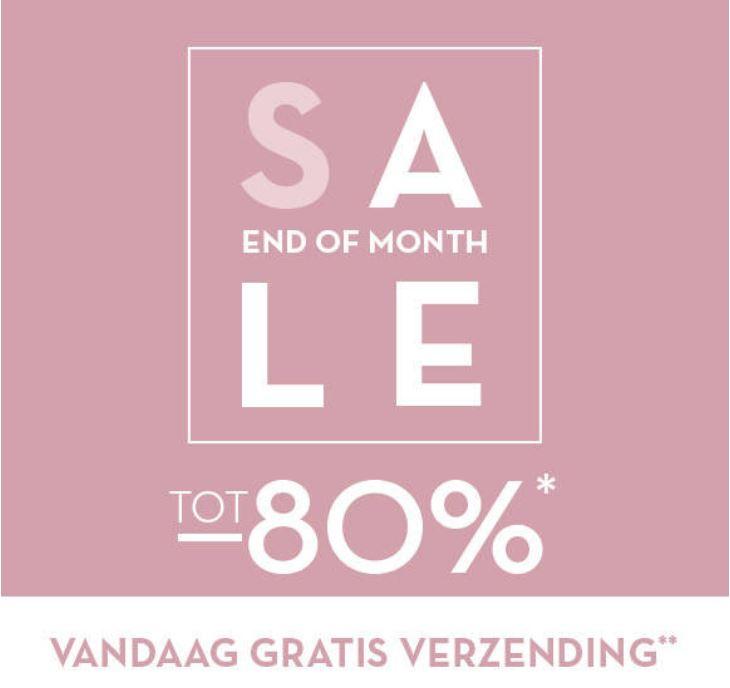 SALE tot -80% + gratis verzending