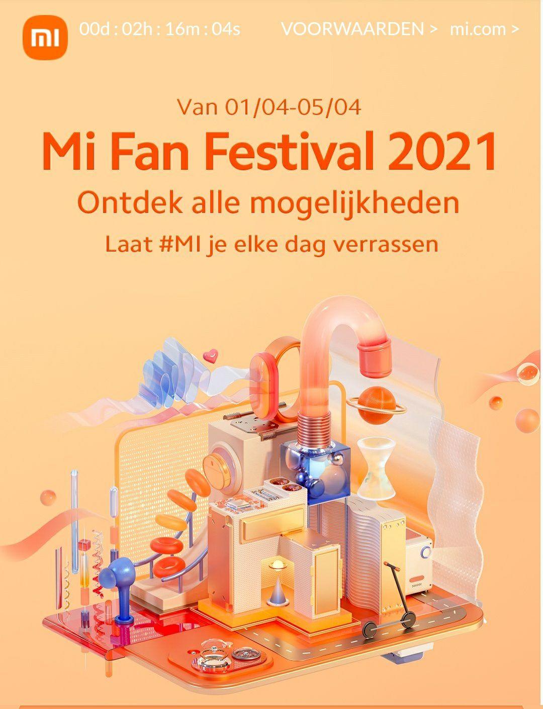 Xiaomi Mi festival (coupons tot €50, Redmi Note 10 serie, scherpe aanbiedingen en nog veel meer!) @mi.com/NL