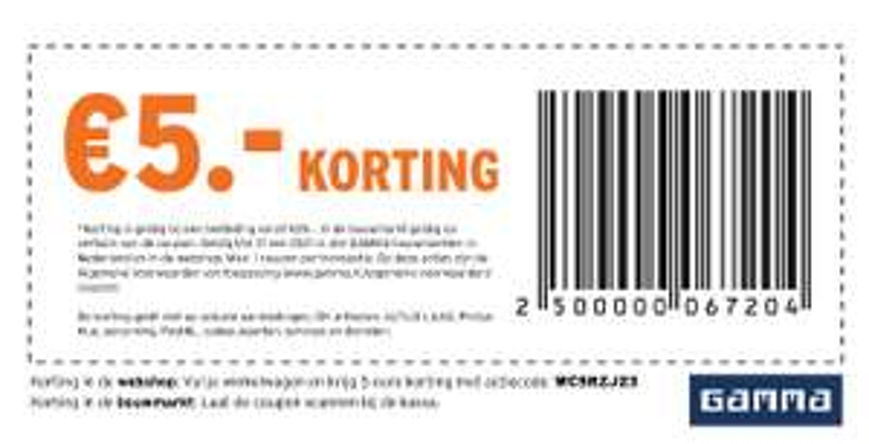 €5 korting bij minimale besteding van €25 (ook Philips Hue) @ Gamma webshop