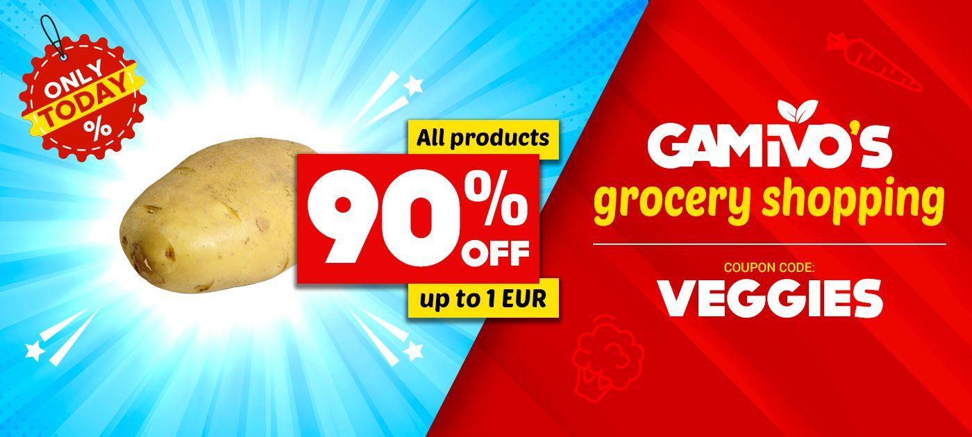 Alle orders tot €1,00, 90% korting!!!