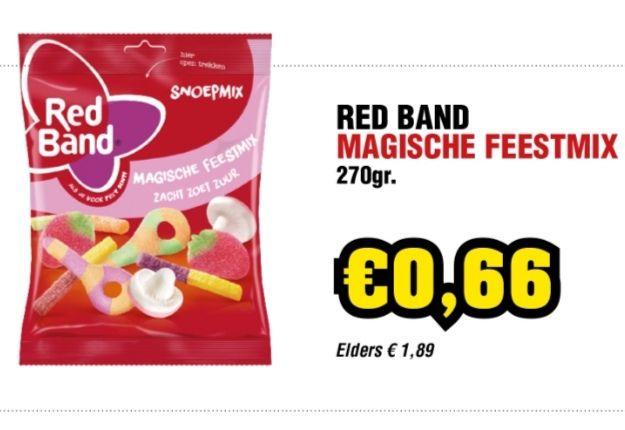 Zak 270g RedBand Feestmix €0,66 @ Budget-Food