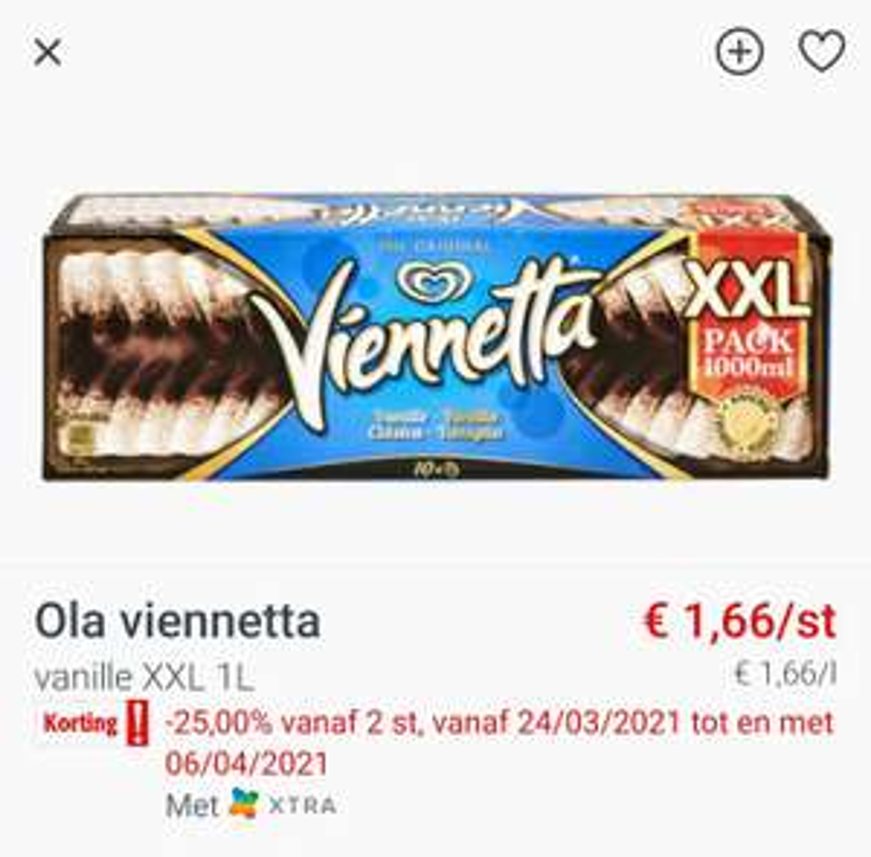 [GRENSDEAL BELGIË] Viennetta XXL (Colruyt)