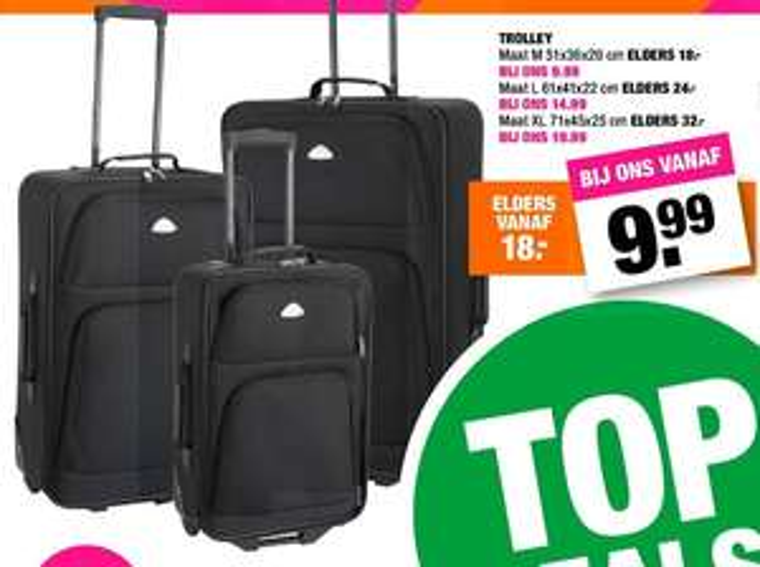 Trolleys vanaf €9,99 @ Big Bazar