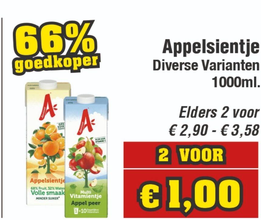 2L Appelsientje €1 @ Budget-Food (Week 14)