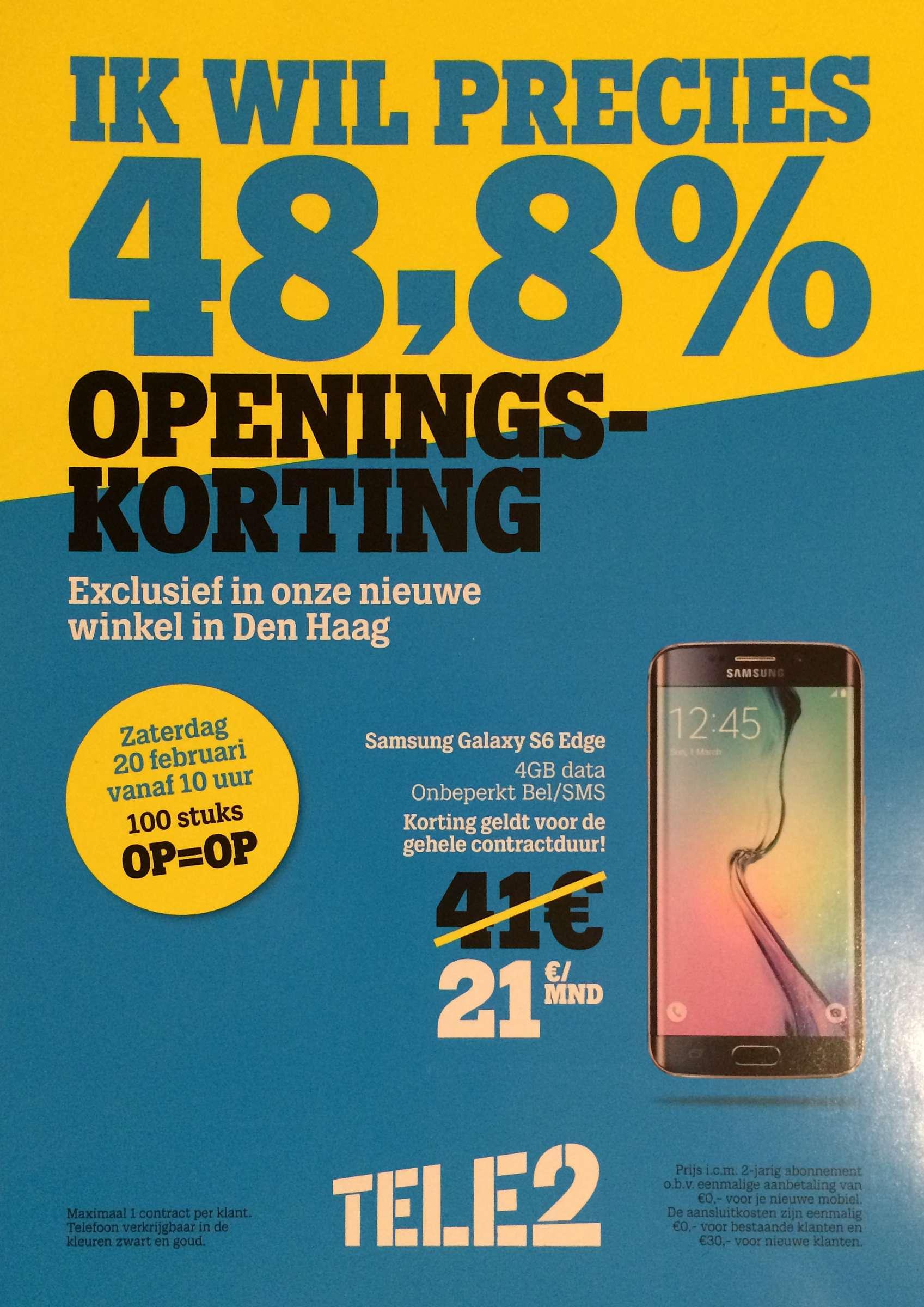 Openingskorting Tele2 Den Haag
