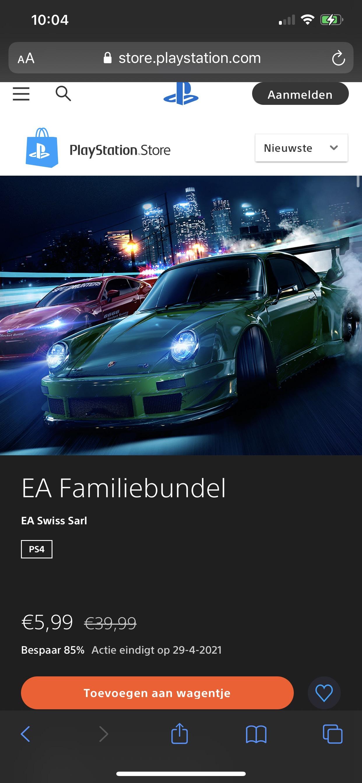 EA familiebundel extra korting voor PS Plus leden