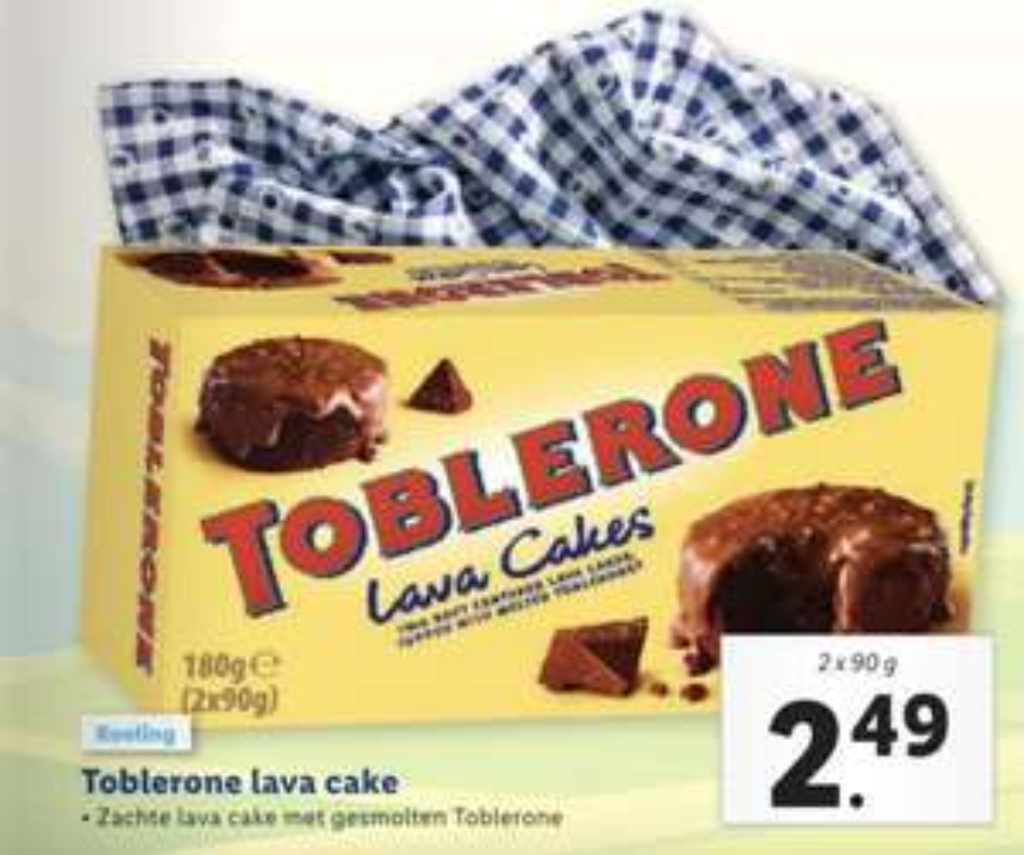 Vanaf 8 april: Toblerone Lava Cakes bij Lidl