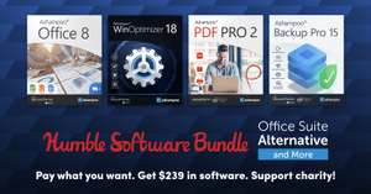 Ashampoo Backup Pro 15 voor € 1 @HumbleBundle (& Office 8 voor € 16,68)
