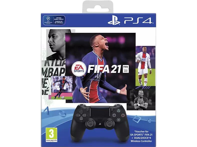 PS4 DualShock 4 V2 controller + FIFA21 + PlayStation Plus @Mediamarkt