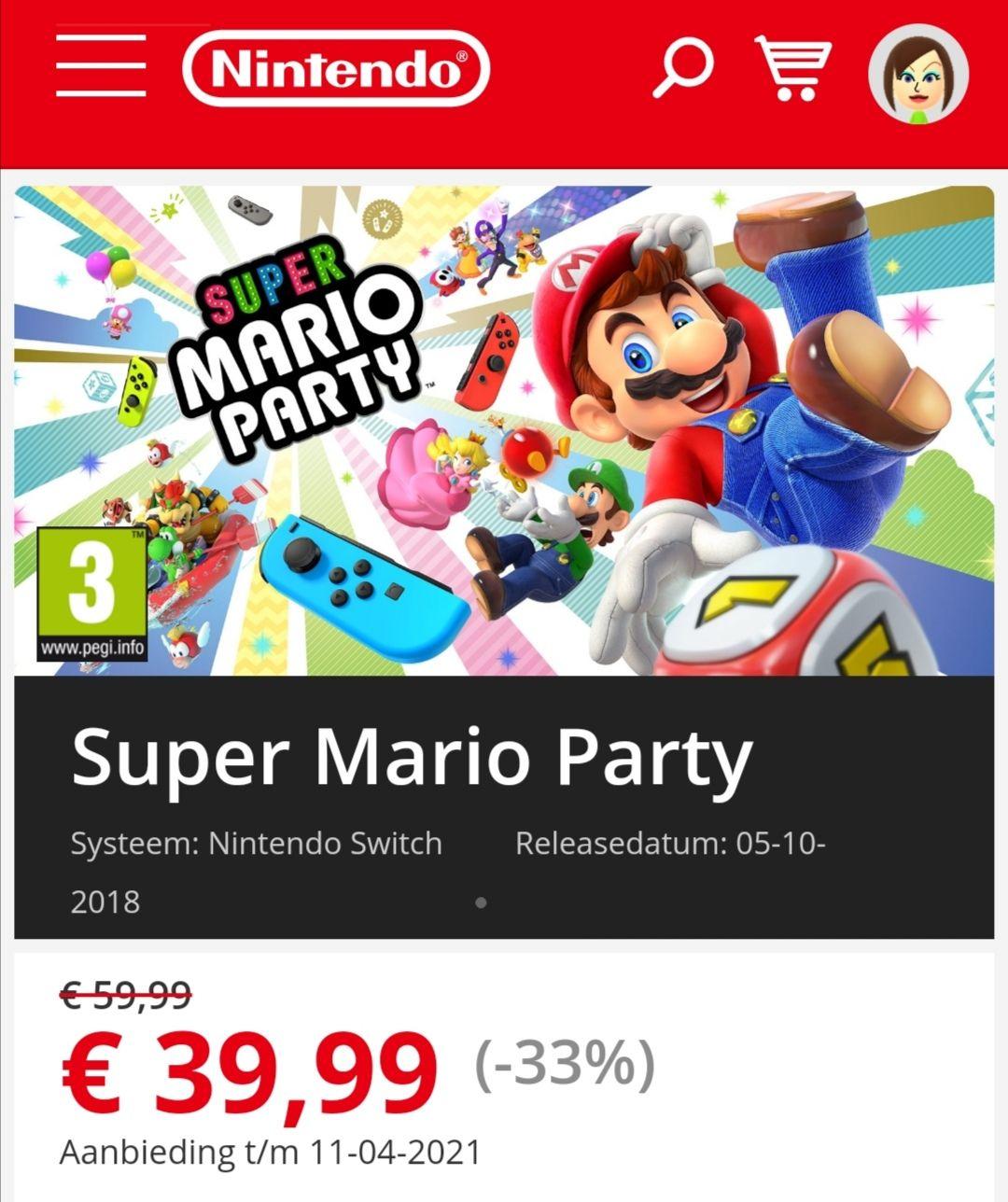 Super Mario Party Voor De Nintendo Switch.