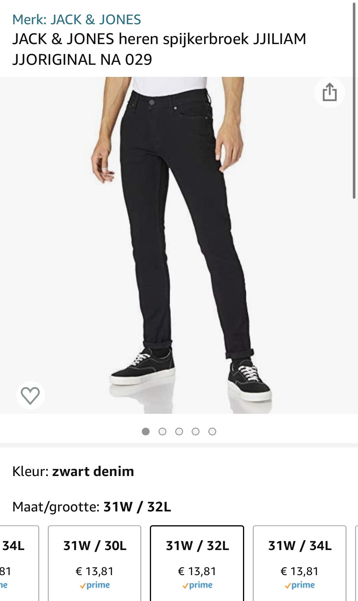 JACK & JONES heren spijkerbroek zwart skinny