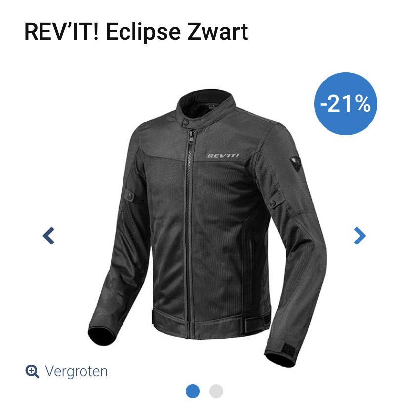 Revit Eclipse zwart doorwaai motor jas