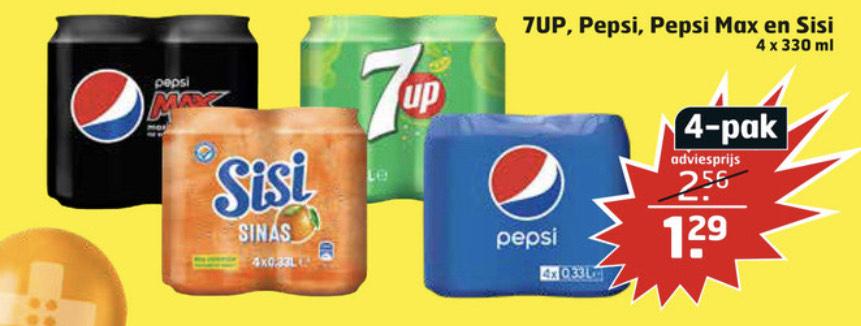 Pepsi , SiSi , 7up blikjes bij Trekpleister