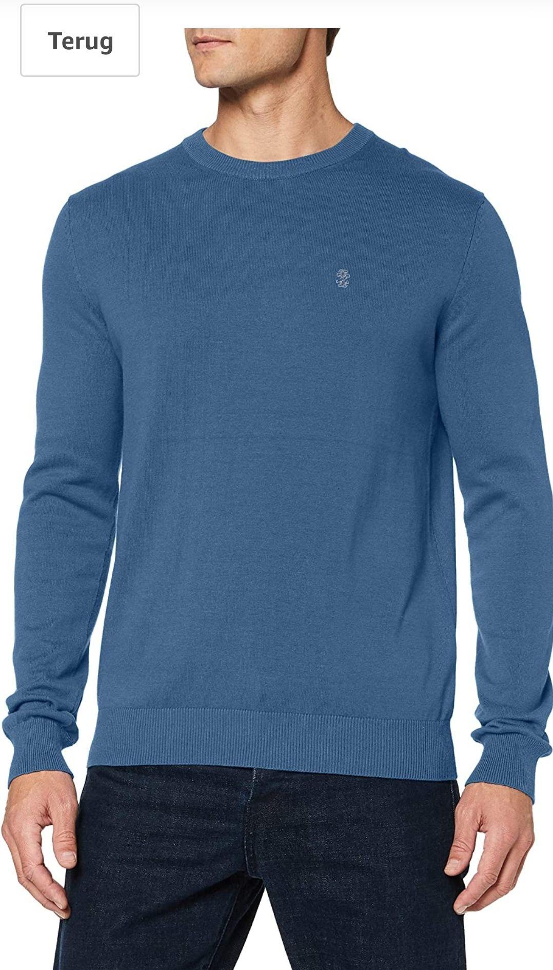 IZOD heren Sweater/Trui maat S/L Blauw