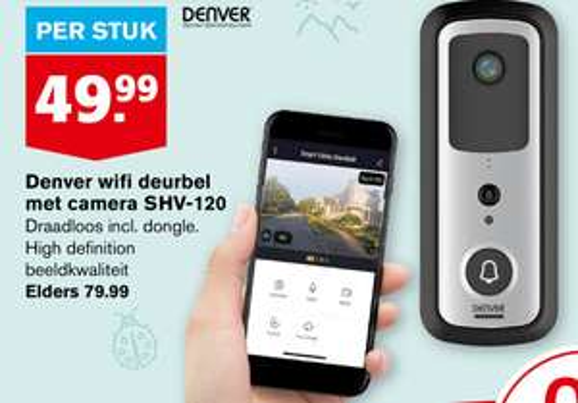 Denver WiFi Deurbel met camera SHV-120 (Hoogvliet)