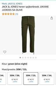 JACK & JONES heren broek Kane Cross OLIVE