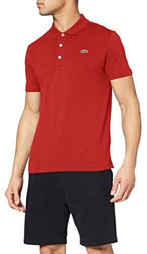 Lacoste men's slimfit polo (100% katoen) rood (zwart 49,95) - maten xs t/m 3xl