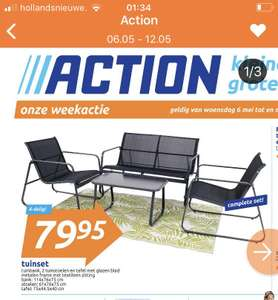4-delige tuinset in de weekactie @ Action
