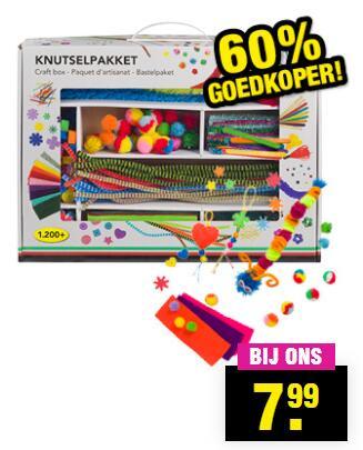 DIY Knutseldoos 1200-delig €8 @ Big Bazar