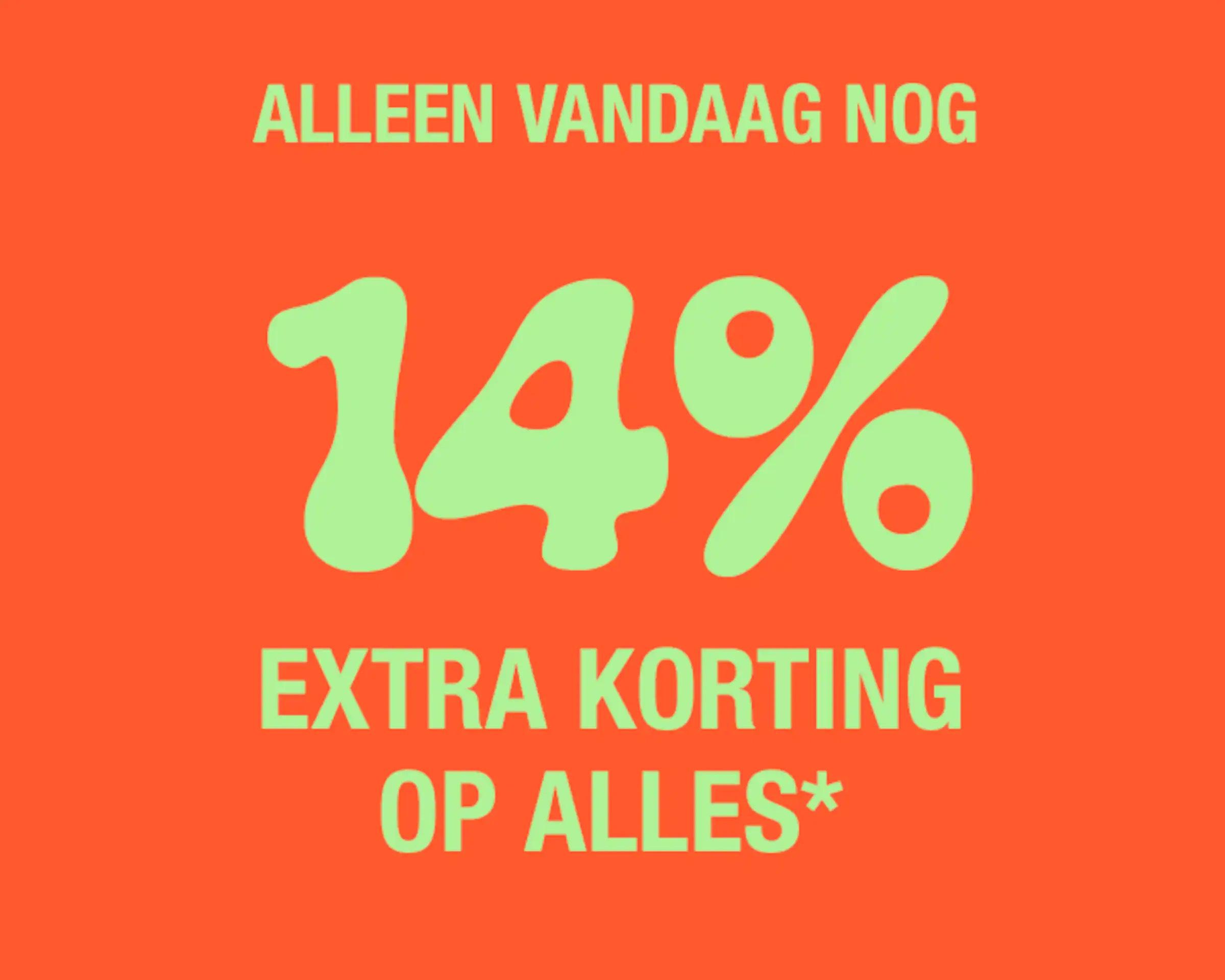 Alleen vandaag: 14% korting op alles (minimale besteding €75) @ About You