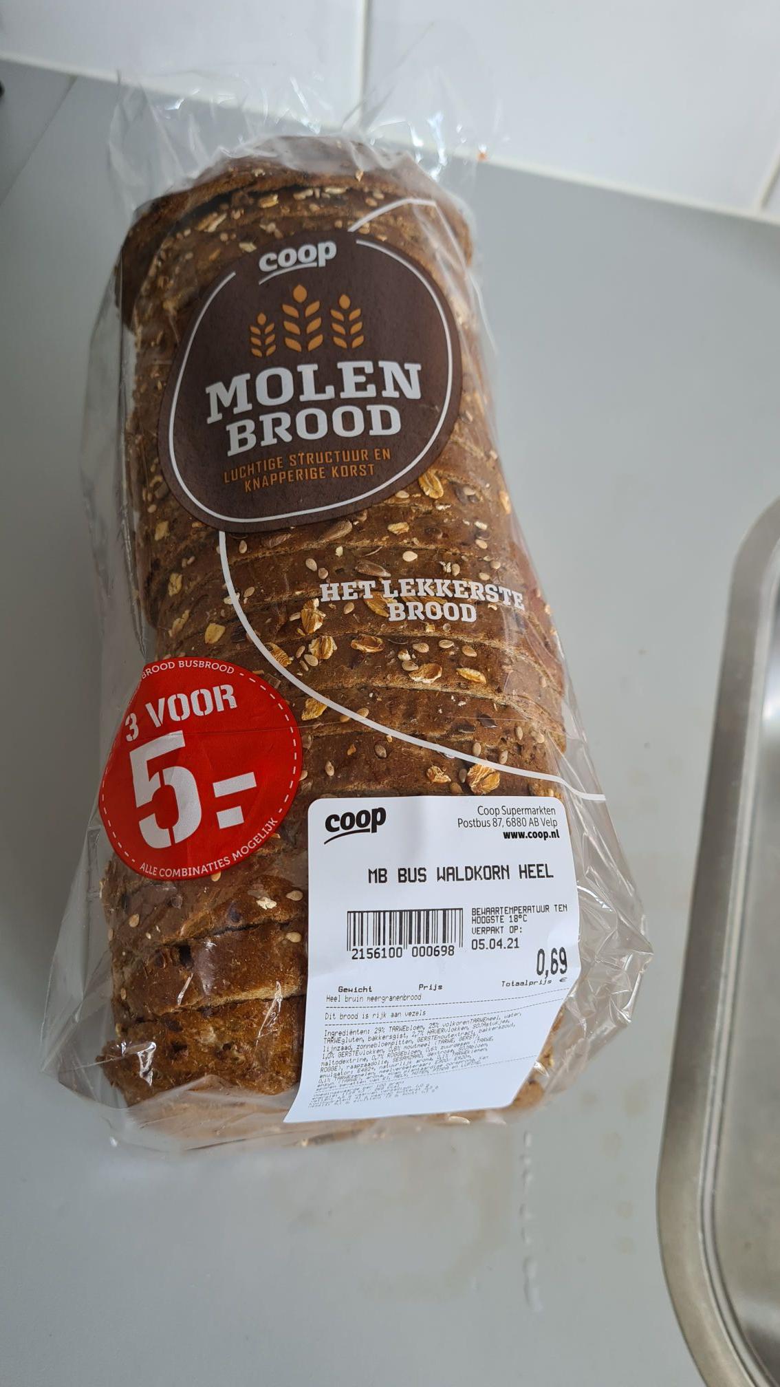 LOKAAL COOP Vandaag Oostzeedijk 310 Rotterdam - heel Waldkorn brood