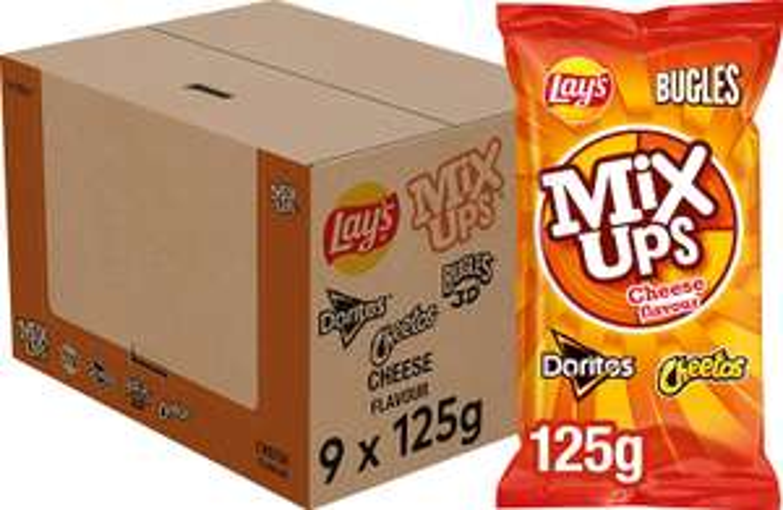 Lay's Mixups Kaas Chips, Doos 9 stuks x 125 g € 7,68 [selecteer abonneren en besparen]