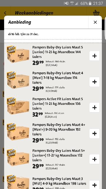 [UPDATE] Pampers maandboxen 29.99-32.99 bij JUMBO