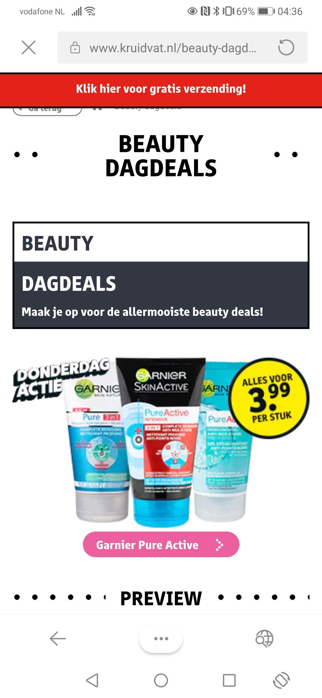 Dagdeal Kruidvat: Garnier Pure Active voor €3,99