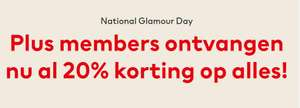 H&M Plus Members 20% early korting voor National Glamour Day