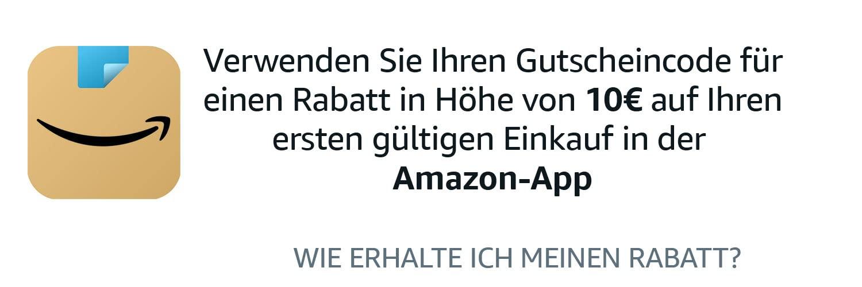 voucher van € 10 vanaf € 25 voor eerste bestellingen via de app @amazon.de